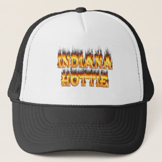 Indiana Hottie Fire and Flames Trucker Hat