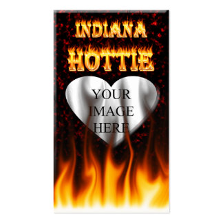 Indiana Hottie fire and red marble heart. Pack Of Standard Business Cards