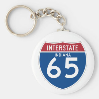 Indiana IN I-65 Interstate Highway Shield - Key Ring