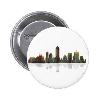 Indiana Indianapolis Skyline 6 Cm Round Badge