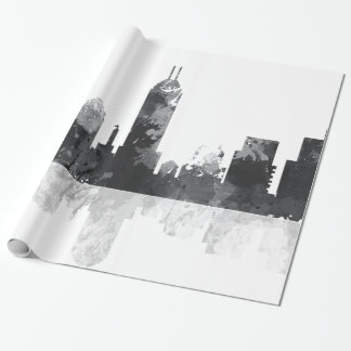 INDIANA, INDIANAPOLIS SKYLINE WRAPPING PAPER