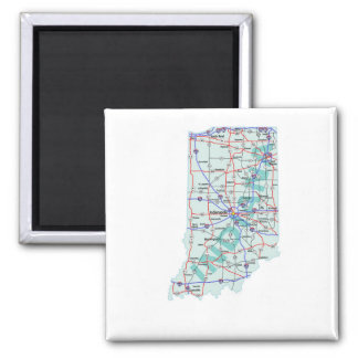 Indiana Interstate Map Magnet