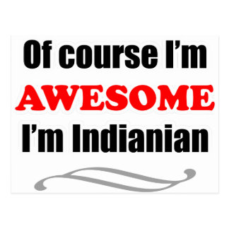 Indiana Is Awesome Postcard