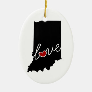 Indiana Love!  Gifts for IN Lovers Christmas Ornament