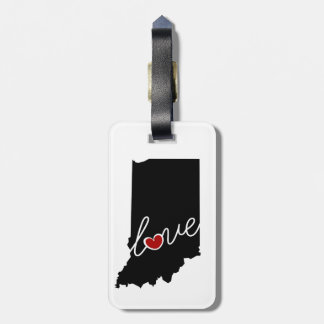 Indiana Love!  Gifts for IN Lovers Luggage Tag