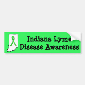 Indiana Lyme Disease Awareness Bumper Sticker