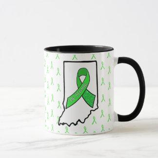 Indiana Lyme Disease Awareness Ribbon Coffee Mug