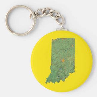 Indiana Map Keychain