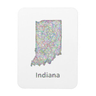 Indiana map magnet