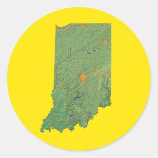 Indiana Map Sticker