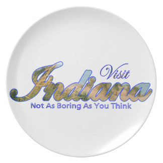 Indiana, Not As Boring As You Think Party Plates