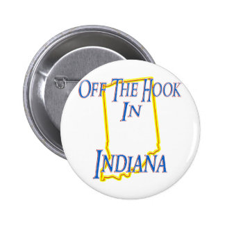 Indiana - Off The Hook 6 Cm Round Badge