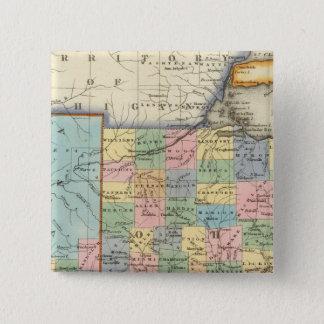 Indiana, Ohio 15 Cm Square Badge