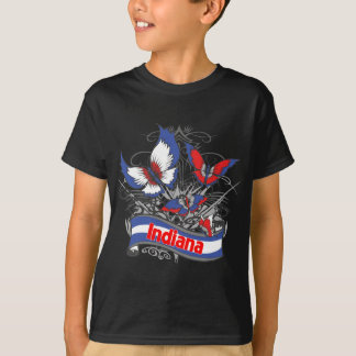 Indiana Patriotism Butterfly T-Shirt