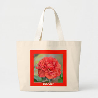 Indiana Peony Large Tote Bag