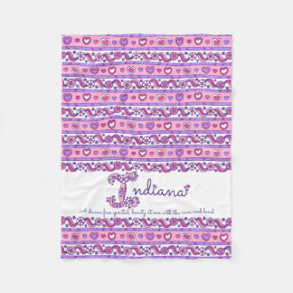 Indiana personalized I name meaning kids blanket