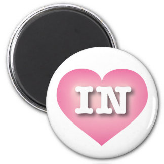 Indiana Pink Fade Heart - Big Love 6 Cm Round Magnet