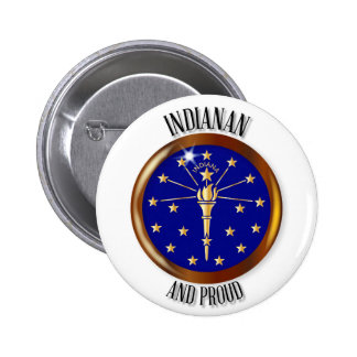 Indiana Proud Flag Button