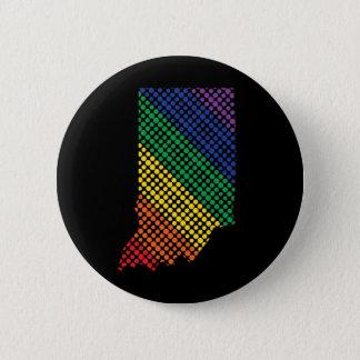Indiana Rainbow State 6 Cm Round Badge