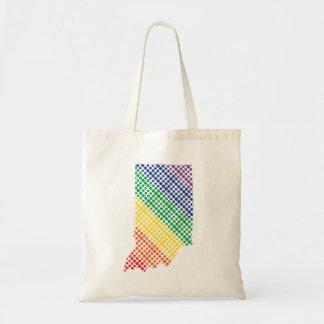 Indiana Rainbow State Tote Bag