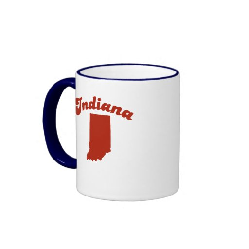 INDIANA Red State Coffee Mugs