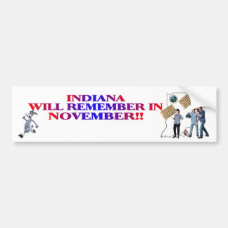 Indiana - Return Congress To The People!! Bumper Sticker