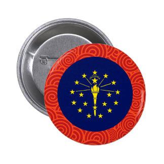 Indiana round flag 6 cm round badge