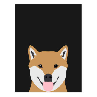 Indiana - Shiba Inu Dog Illustration for Dog Lover Postcard