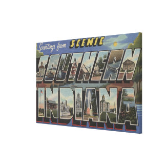 Indiana (Southern) - Large Letter Scenes Canvas Print