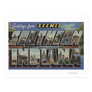 Indiana (Southern) - Large Letter Scenes Postcard