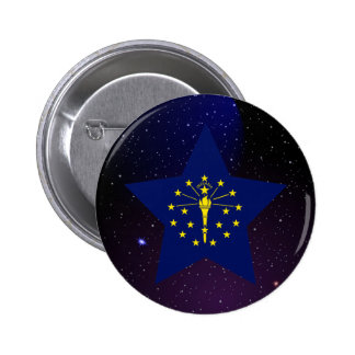 Indiana Star Design Flag 6 Cm Round Badge