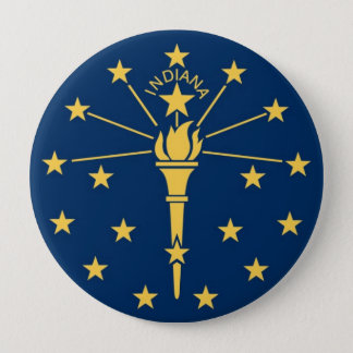 Indiana State Flag 10 Cm Round Badge