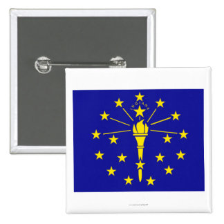 Indiana State Flag 15 Cm Square Badge