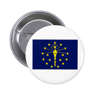 Indiana State Flag 6 Cm Round Badge