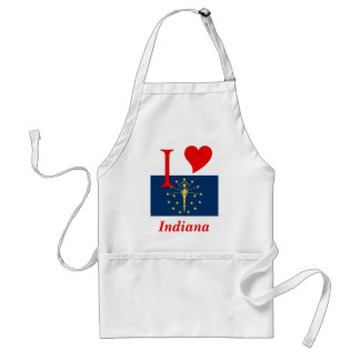 Indiana State Flag Adult Apron