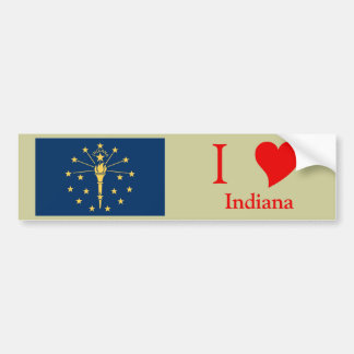 Indiana State Flag Bumper Sticker