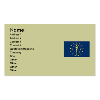 Indiana State Flag Double-Sided Standard Business Cards (Pack Of 100)