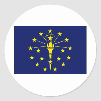 Indiana State Flag Classic Round Sticker