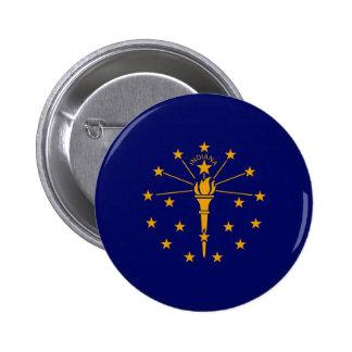 Indiana State Flag Design 6 Cm Round Badge