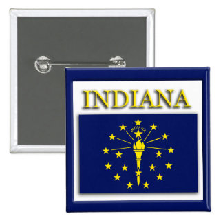 Indiana State Flag Design Button