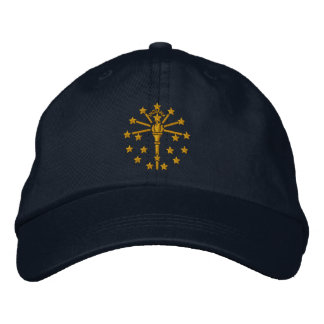 Indiana State Flag Design Embroidered Hat