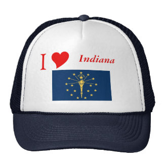 Indiana State Flag Mesh Hats