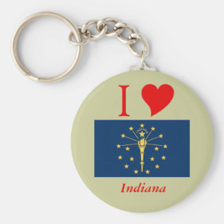 Indiana State Flag Keychain