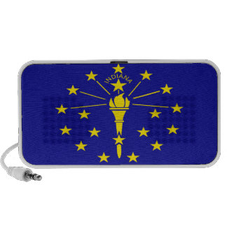 Indiana State Flag Notebook Speakers