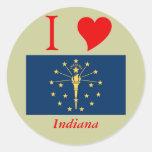 Indiana State Flag Round Sticker