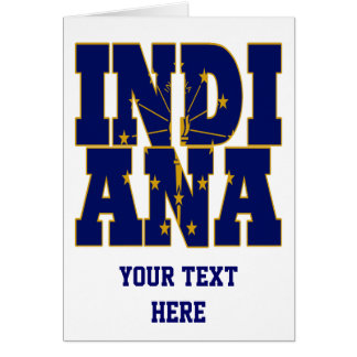 Indiana state flag text card