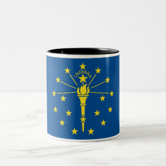 Indiana State Flag Two-Tone Coffee Mug
