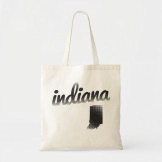 Indiana State Halftone Budget Tote Bag
