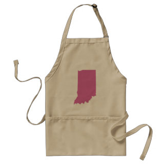 Indiana State Outline Standard Apron