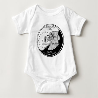 Indiana State Quarter Baby Bodysuit